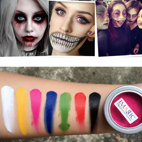Body Paint Flash Tattoo Color Oil Painting Art Make Up Halloween Party Fancy Dress Makeup Tools 7 colors Nontoxic Safe Face