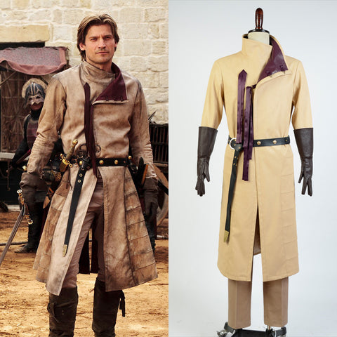 GoT Game of Thrones Kingslayer Ser Jaime Lannister Outfit Cosplay Costume For Adult Men