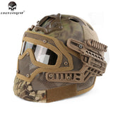 Emerson G4 System/Set PJ Helmet Fullface Overall Protection Glass Net Face Mask Airsoft Helmets with Goggles Helmet Accessory