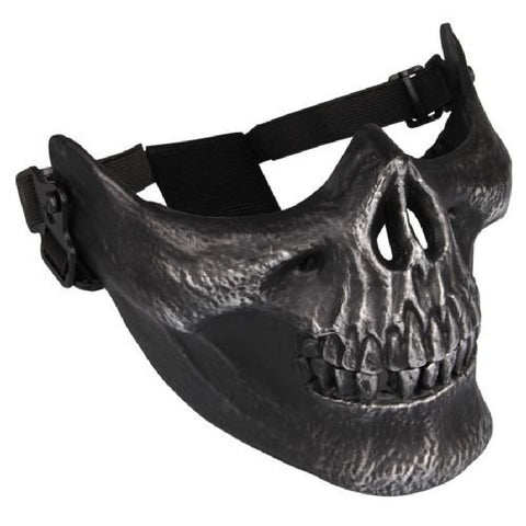 Quality Skull Skeleton Airsoft Paintball Half Face Protect Mask Helmets Paintball Equipment Masks For Paintball Games Black NEW