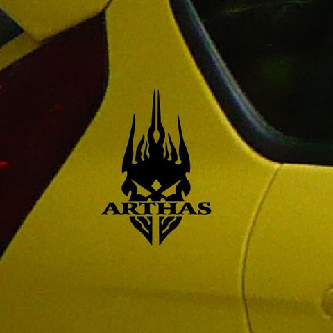 World of Warcraft ARTHAS  Vinyl Car Window Decal  Waterproof car stickers and decals  /BLACK/Reflect  SILVER RED