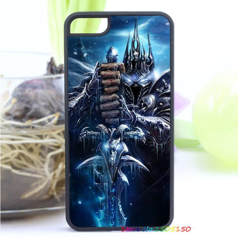 WOW World of Warcraft Arthas Fall of The Lich King Arthas Menethil cover for iphone 4 4S 5 5S 5C SE 6 plus 6s plus 7 7 plus &zz