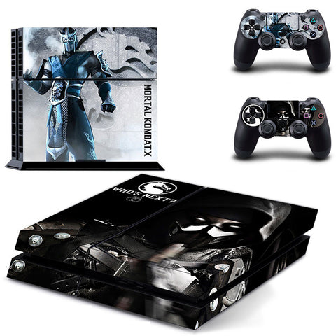 Skin Vinyl Decal Sticker Mortal Kombat X For PS4 Playstation 4 Console + 2 Controller