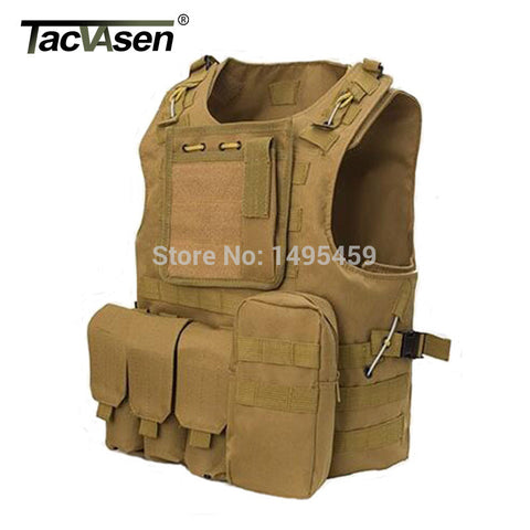 TACVASEN Hot Army Fans Combat Tactical Clothes New Hunt Airsoft MOLLE Nylon Combat Paintball Tactical Gear Products
