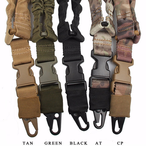Adjustable Military Tactical Gun Sling Belt Single Point Mount Bungee Rifle Sling Kit Airsoft Shotgun Strap Hunting 30-0001