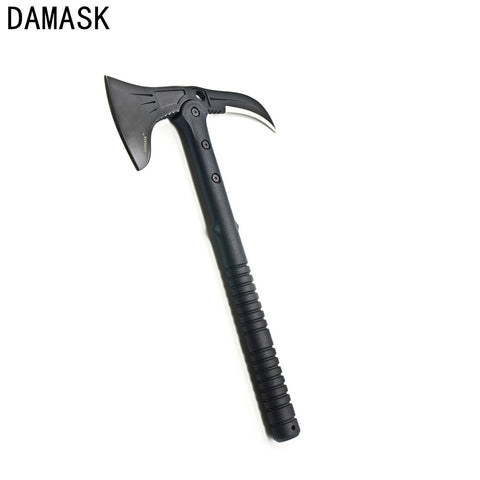 Damask Brand Double Edged Outdoor Multi-functional Axe Army Rescue Machete Axe Tomahawk Wild Survival Forest Exploration Tools
