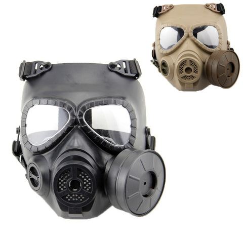 Hot CS Airsoft Paintball Dummy Gas Mask with Fan for Cosplay Protection Halloween Evil Antivirus Skull Festival Decor