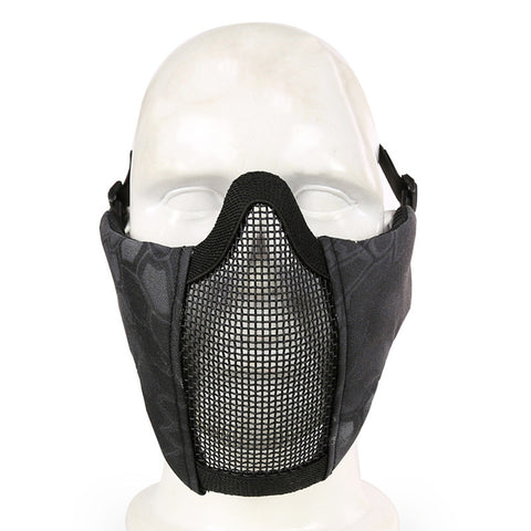 Top Quality Protected face mask Generic Tactical Airsoft CS Game Protective Guard Mesh Metal Half Face Mask