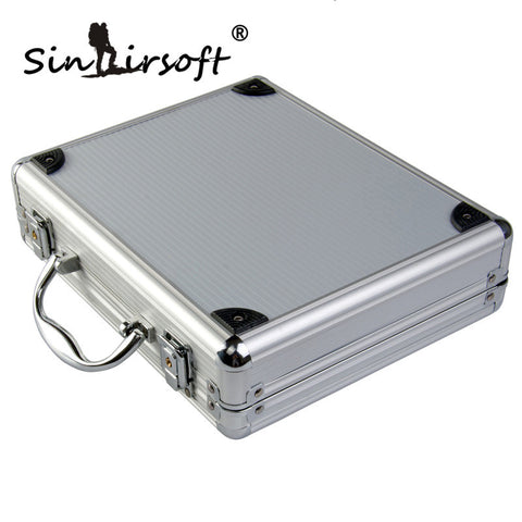 SINAIRSOFT high quality Aluminum alloy Tactical Hard Pistol Case Gun Case Padded Foam Lining for hunting airsoft