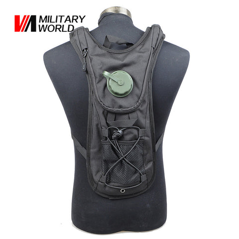 900D Nylon 2.5L Airsoft Tactical Hunting Water Bag Hydration Backpacks Camping Hiking Cycling Water Pouch Pack Men Travel Kit