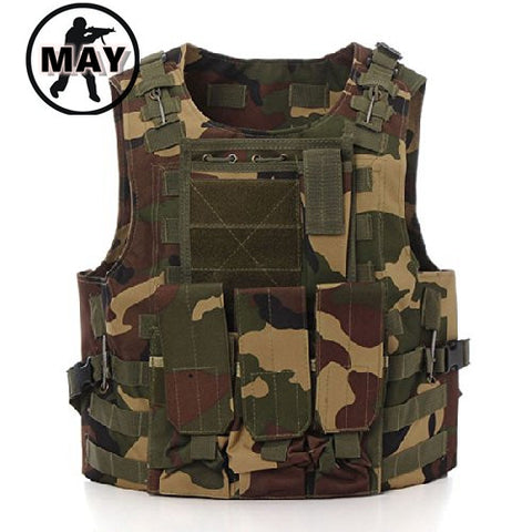 Tactical Vest Combat Molle Assault Military Army Airsoft Tactical SWAT Vest for Hunting Outdoor