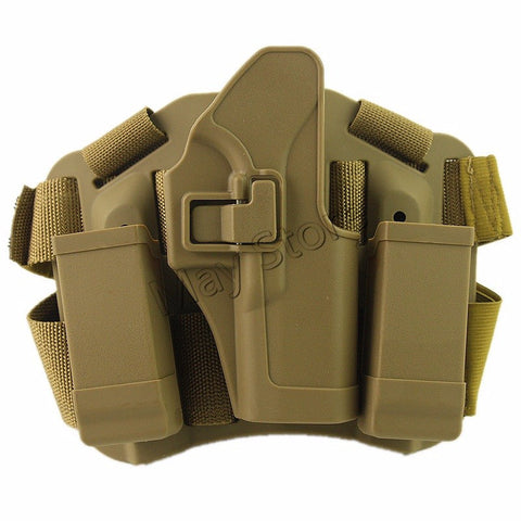 Outdoor Hunting Gun Accessories Airsoft Gun Holster Tactical Holster Gl 17 19 21 31 TAN