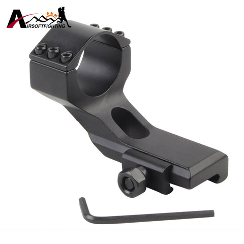 Tactical 30mm 25mm High Ring 20mm Weaver Picatinny Rail Dovetail Mount Airsoft Hunting Flashlight Scope Mount Base