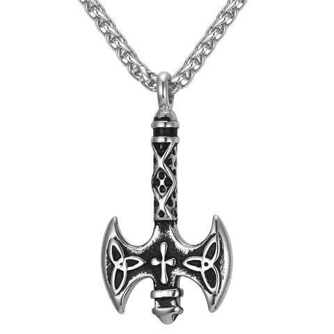 U7 New Clap Ax Pendant Necklace Cross Men Jewelry Wholesale Gold Color European Viking Jewelry P850