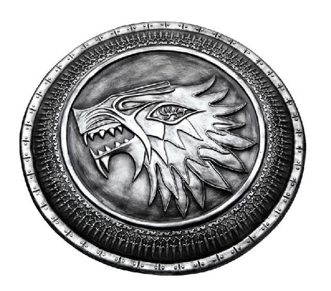 S5276 GAME OF THRONES DIRE WOLF SHIELD OF HOUSE STARK LARP SHIELD ELITE WAR 25""
