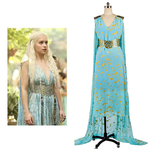 Hero Catcher Custom Made Game of Thrones Cosplay Daenerys Targaryen Qarth Dress Costumes Adult Women Halloween Costume