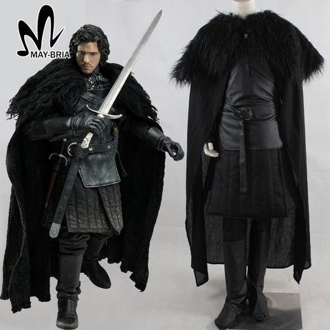 Song of Ice and Fire Game of Thrones jon snow cosplay costume Halloween costumes for adult Men Jon Snow costume fancy suit