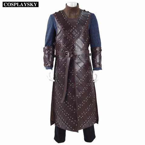 Game Of Thrones Season 6th Jon Snow Armor Cosplay Costume Man's Battle Suit