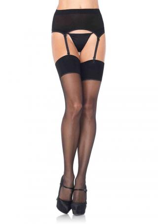 1925 garter belt and stocking set black