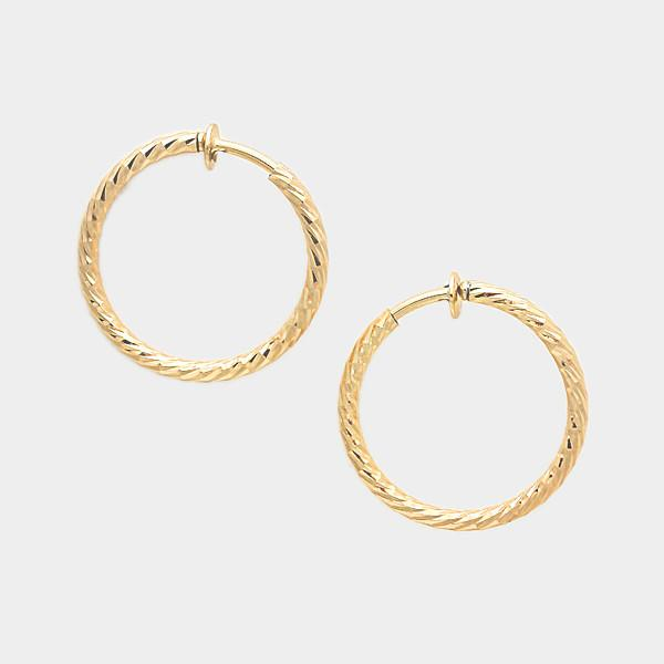 Clip-On Hoop Earrings in Gold