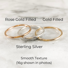 Load image into Gallery viewer, One 1.3mm  Stacking Ring - Choose Metal