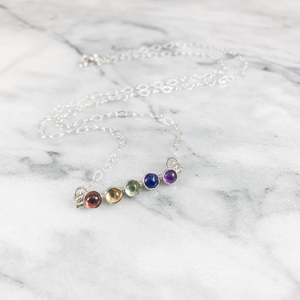 Rainbow Gemstone Necklace (Profits donated to Pride St Louis)