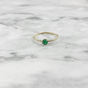 Rope Band Birthstone Ring