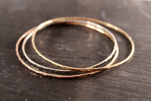 Mixed Metal Bangle Trio - 1.6mm