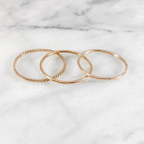One Thin Stacking Ring - Choose Metal