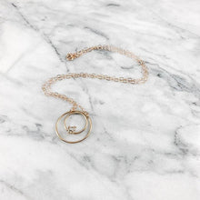 Load image into Gallery viewer, Herkimer Diamond Circle Necklace