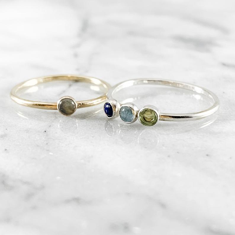 Minimalist Birthstone Ring