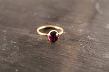Load image into Gallery viewer, Amethyst 8mm Gemstone Ring