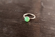 Load image into Gallery viewer, Chrysoprase 8mm Gemstone Ring