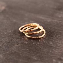 Load image into Gallery viewer, Thick 14k Rose Gold Filled Stacking Ring Set  3+ RINGS