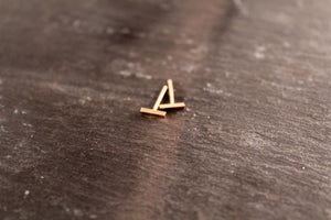 Small Rectangle Bar Stud Earrings