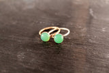 Chrysoprase 8mm Gemstone Ring