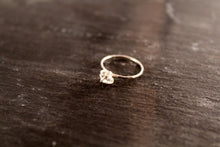 Load image into Gallery viewer, Herkimer Diamond Hammered Ring