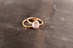 Moonstone 8mm Gemstone Ring