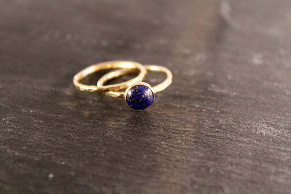 Lapis Lazuli 8mm Stacking Ring Set