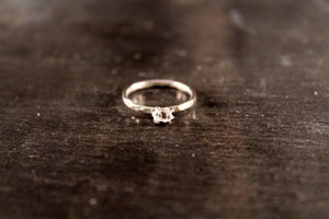 Herkimer Diamond Thick Ring