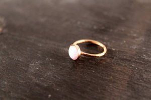 Opal 8mm Gemstone Ring