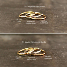 Load image into Gallery viewer, Thick 14K Gold Filled Stacking Ring Set 3+ RINGS