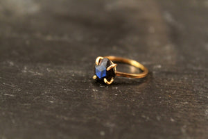 Labradorite Cushion Cut Prong Setting Ring