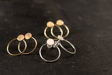 Load image into Gallery viewer, Modern Geometric Circle Stud Earrings