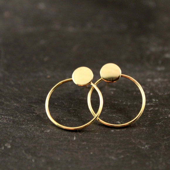Modern Geometric Circle Stud Earrings