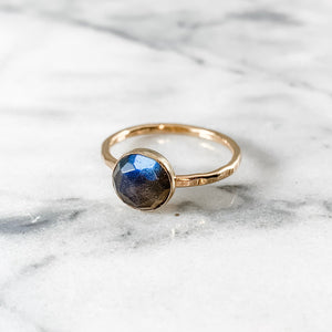 Labradorite 8mm Rose Cut Ring