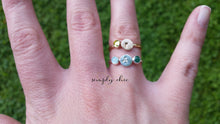 Load image into Gallery viewer, Initial Stacking Birthstone Ring