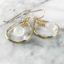 Load image into Gallery viewer, Rock Quartz Teardrop Earrings