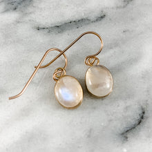 Load image into Gallery viewer, Oval Gemstone Earrings