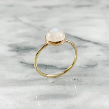 Load image into Gallery viewer, 14K Gold 8mm Rainbow Moonstone Ring